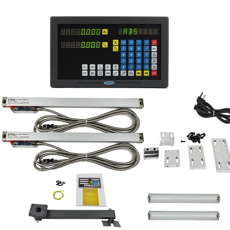 2 axis LED screen multi-functions DRO set for Milling machine