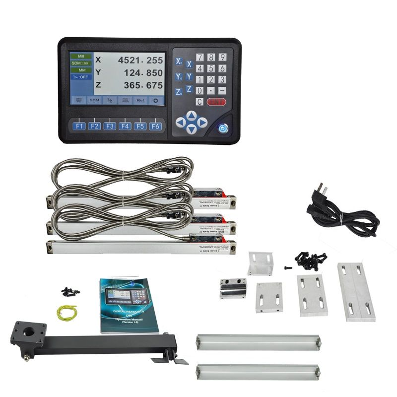 XNUMX axis LCD screen multi-functions DRO set