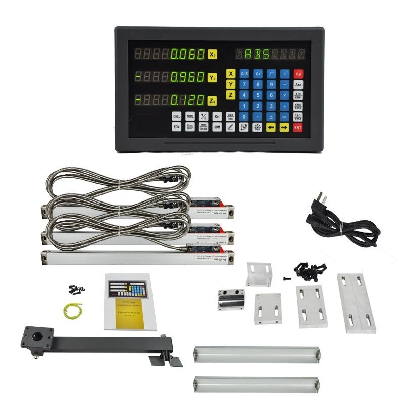 XNUMX axis LED screen  multi-functions DRO set for milling machine