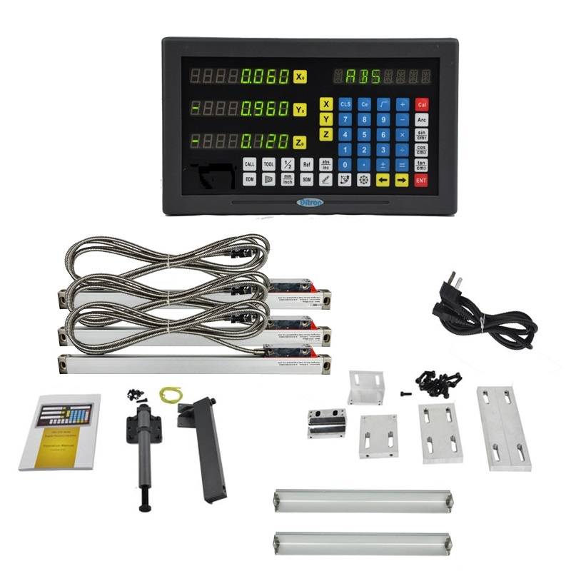 XNUMX axis LED screen multi-functions DRO set for lathe machine
