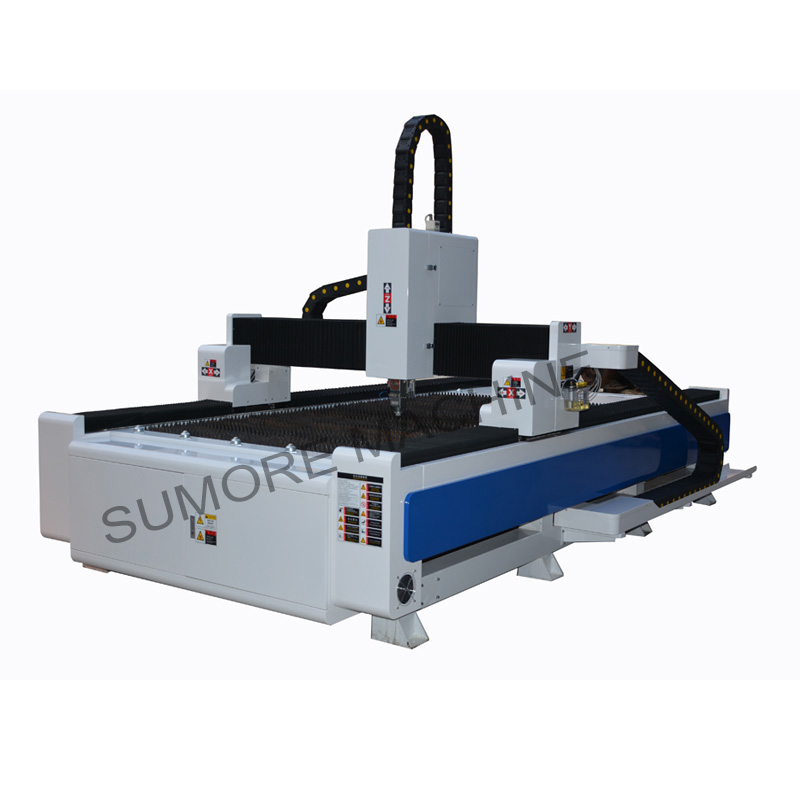 CNC fiber laser cutting machine with table size 1300*2500  SPF1325