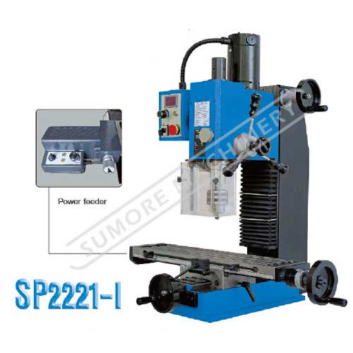 Mini vertical milling machine with 20mm milling capacity SP2221-I