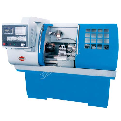 SP2115 industrial cnc lathe machine with 4-way toolpost